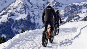 Mountainbike sneeuwvakantie (fatbike)